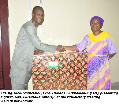 You Have Done Very Well – Ag. VC Tells Mrs. Kuforiji