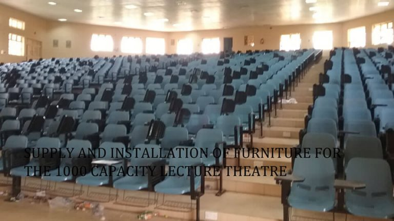 Supply & Installation Of Furniture For The 1000 Capacity Lecture Theatre Building - View 1