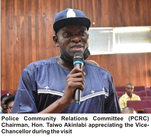 """""""You Are The Best!"""" – Adatan New Area Commander Commends FUNAAB VC"""