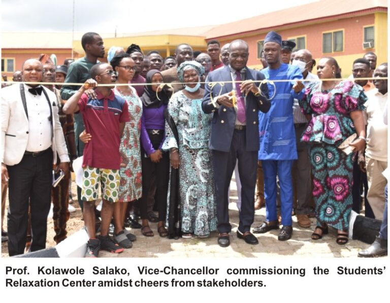 FUNAABSU Commissions Student Relaxation Centre ….gives award to dignitaries